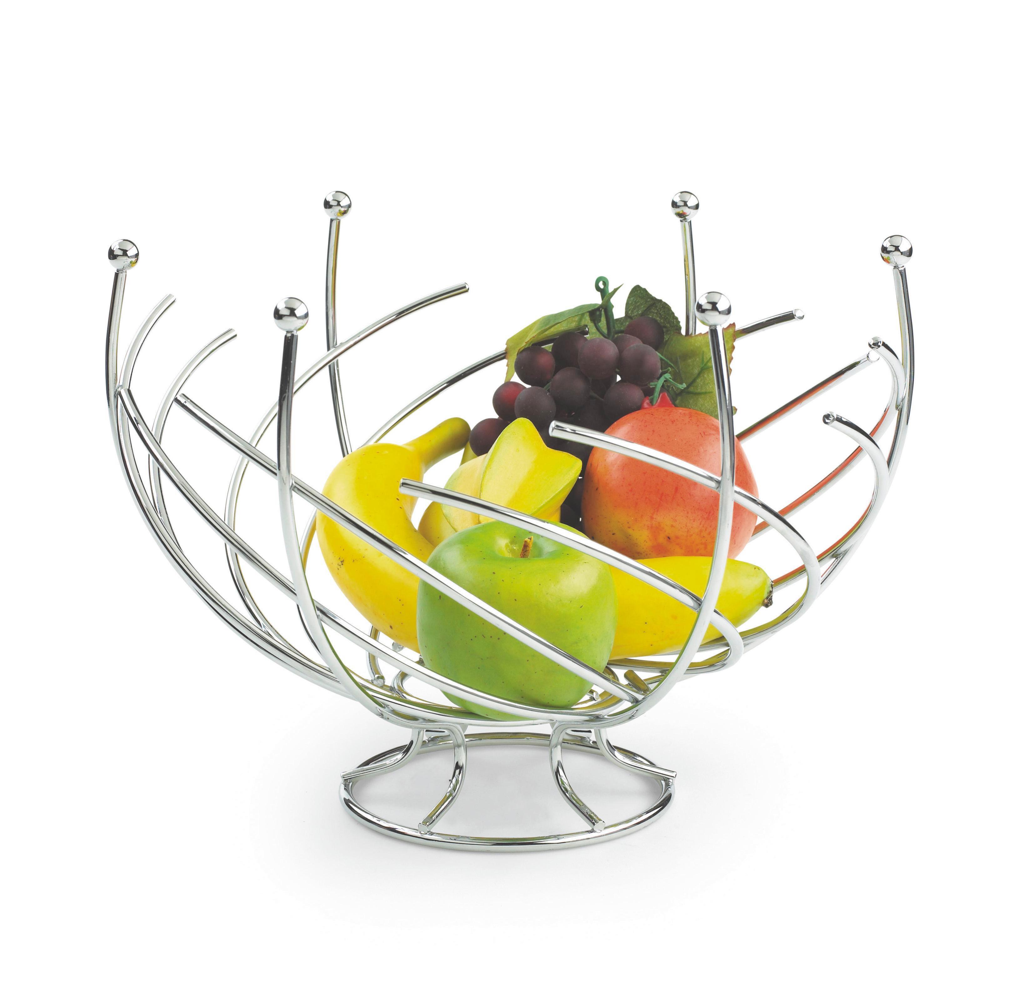 Gyümölcstál Ron - krómszínű, fém (30/22cm) - MÖMAX modern living