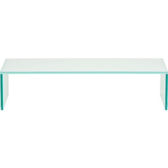 Tv-stojalo Cono Bela - bela, steklo (60/14/35cm)