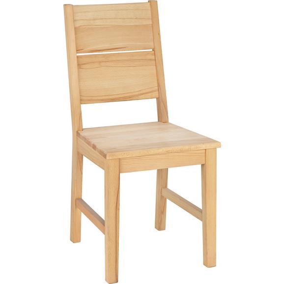 Stuhl aus Kernbuche Massiv - Buchefarben, KONVENTIONELL, Holz (42/94/48cm) - Zandiara