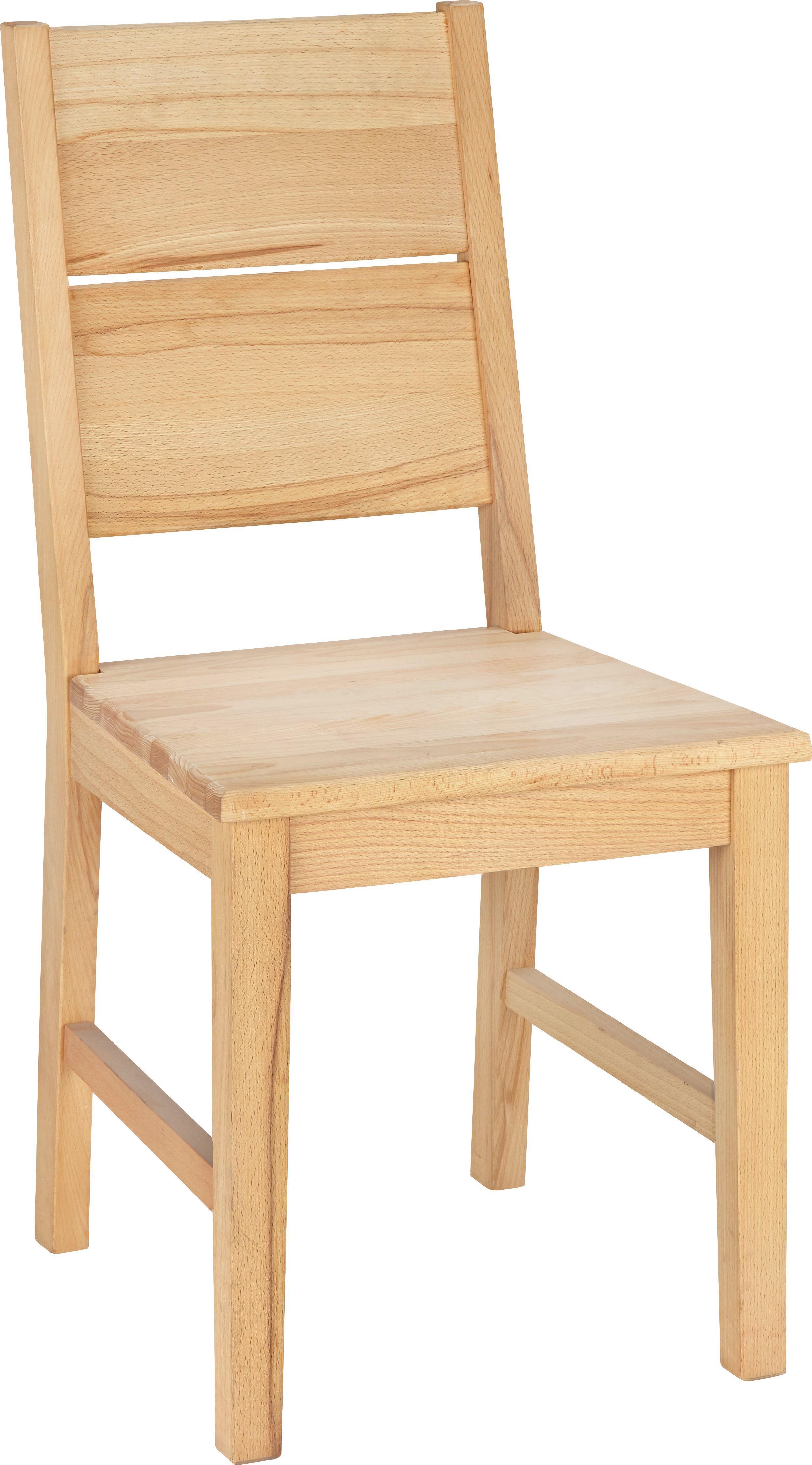 Stuhl in Buchefarben aus Holz - Buchefarben, KONVENTIONELL, Holz (42/94/48cm) - ZANDIARA
