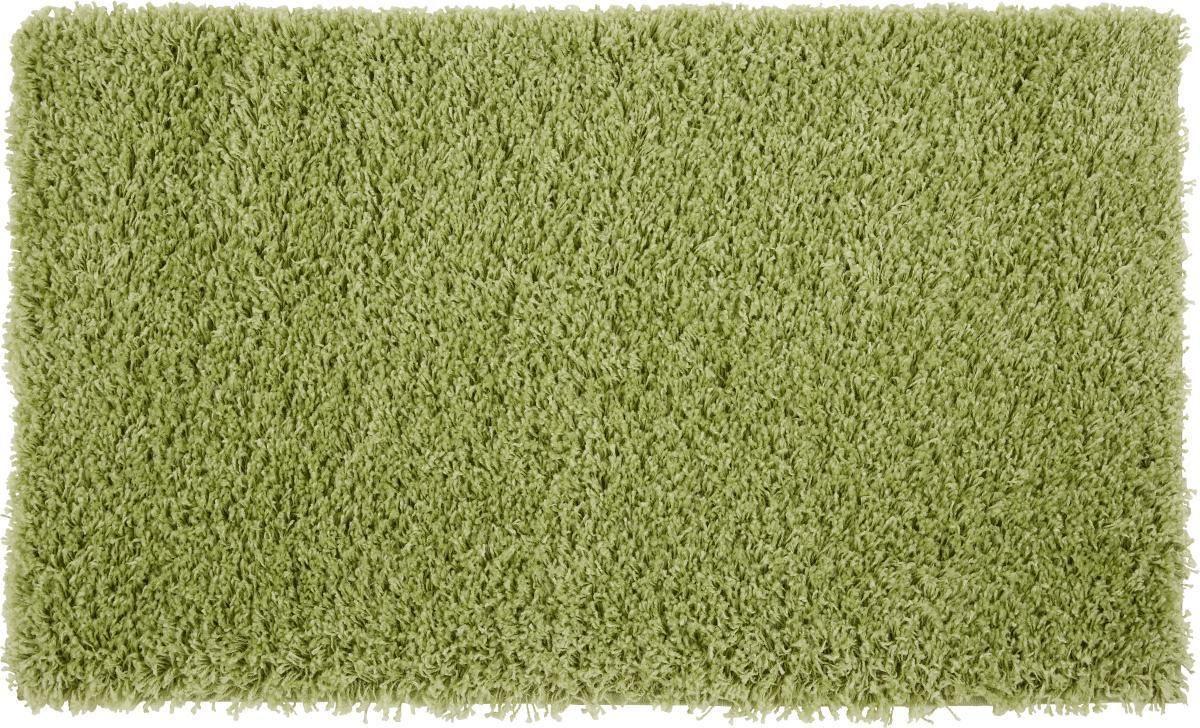 Hochflorteppich Primo - Grün, KONVENTIONELL, Textil (60/100cm) - BASED