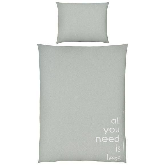Posteljnina Jersey Words - svetlo zelena, Moderno, tekstil (140/200cm) - Premium Living