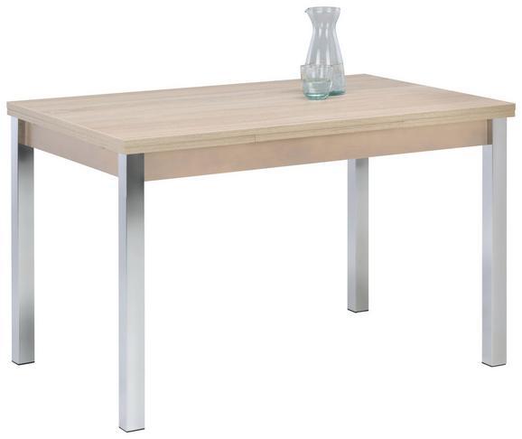 Jedilna Miza Berlin I - krom/hrast sonoma, leseni material (120-196/74/80cm) - Mömax modern living