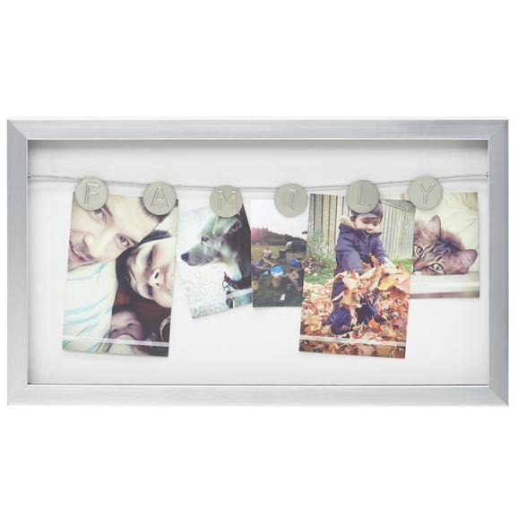 Fotohalter Casius, ca. 47,7x27,2x2,8cm - Nickelfarben, MODERN, Kunststoff (47,7/27,2/2,8cm) - Mömax modern living