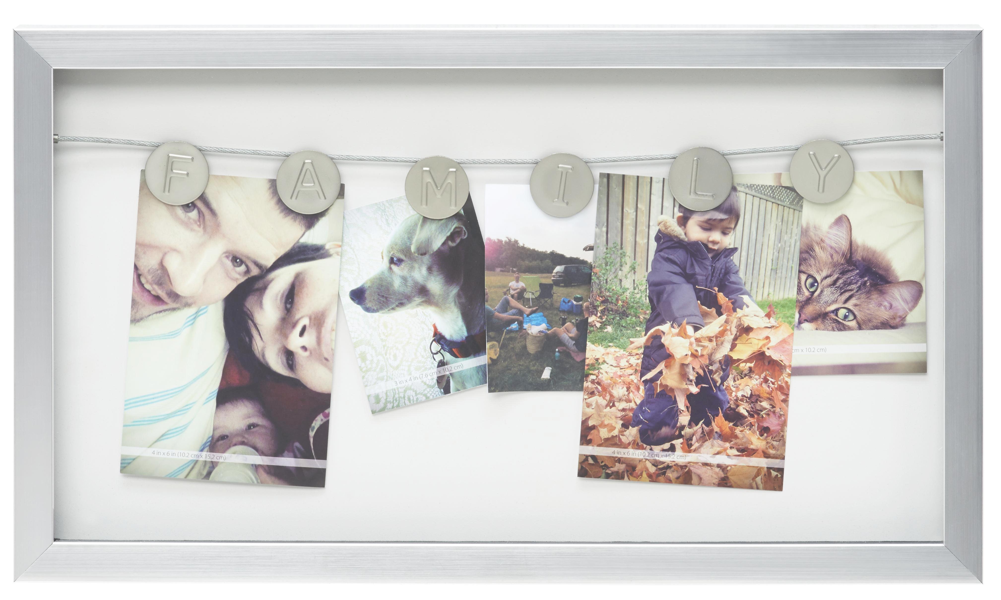 Fotótartó Casius - nikkel színű, modern, műanyag (47,7/27,2/2,8cm) - MÖMAX modern living