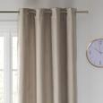 Perdea Inele Capsă Velours - gri, Konventionell, textil (140/245cm) - Modern Living
