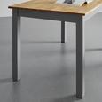 Esstisch aus Massivholz ca. 130x80 cm 'Maxi' - Grau, MODERN (130/80/75cm) - Modern Living