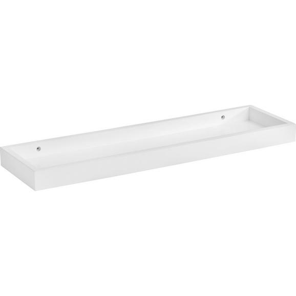 Wandboard Weiß - Weiß, Holzwerkstoff (60/4/16,9cm) - Mömax modern living