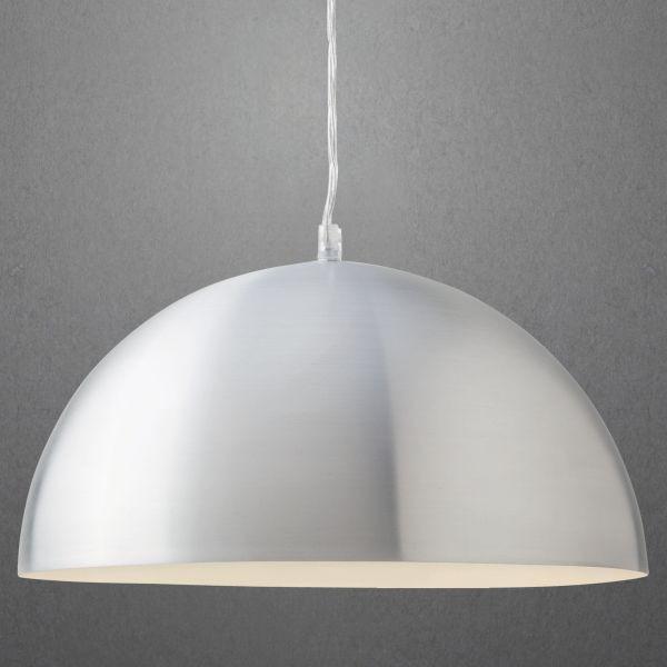 Hängeleuchte Aron - Silberfarben/Weiß, Metall (40/130cm) - MÖMAX modern living