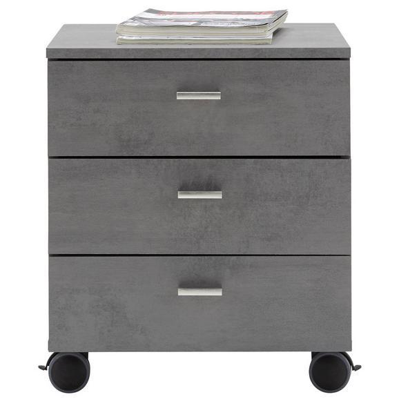 Predalnik na kolescih MISTER OFFICE - črna/hrast, Moderno, kovina/umetna masa (45/52/45cm) - Mömax modern living