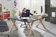 Pisalna Miza Mister Office - hrast/grafit, Moderno, leseni material (140/75/70cm) - Mömax modern living