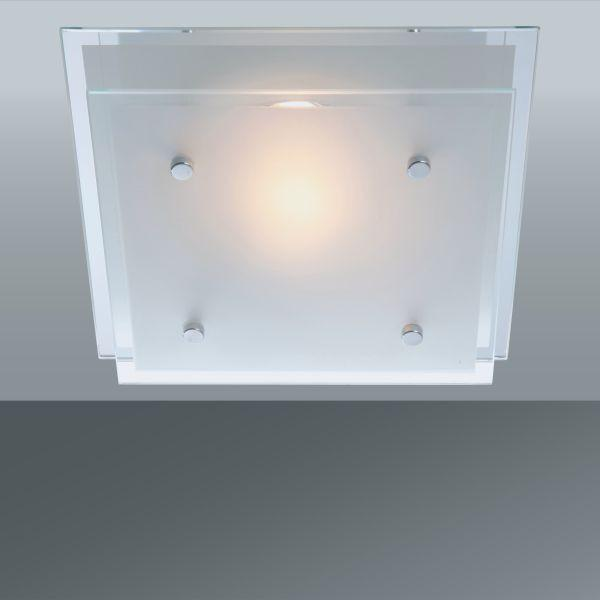 Deckenleuchte Adam, max. 60 Watt - KONVENTIONELL, Glas/Metall (24/24cm) - MÖMAX modern living