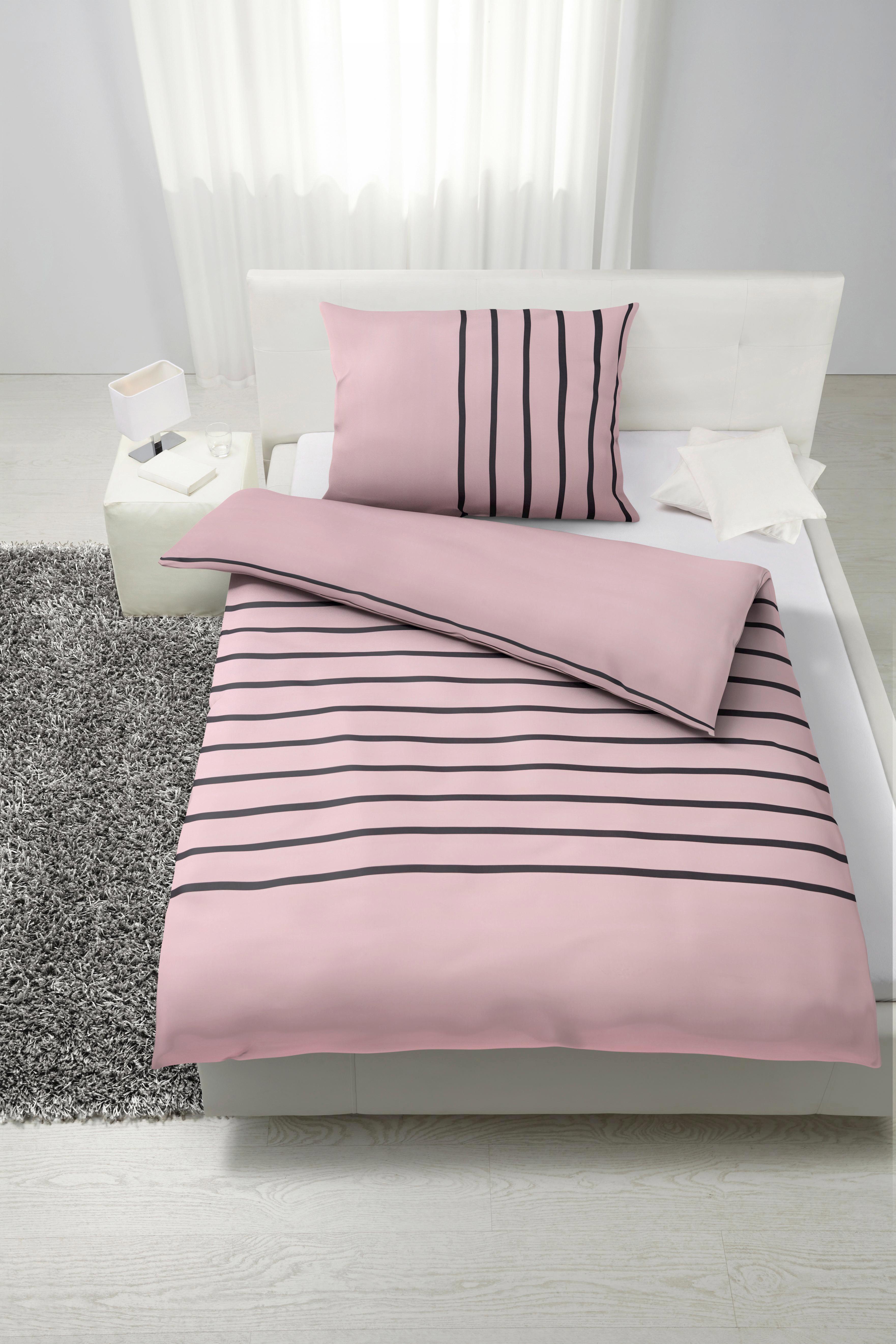 Ágyneműhuzat-garnitúra Tamara - rózsaszín, modern, textil (140/200cm) - MÖMAX modern living
