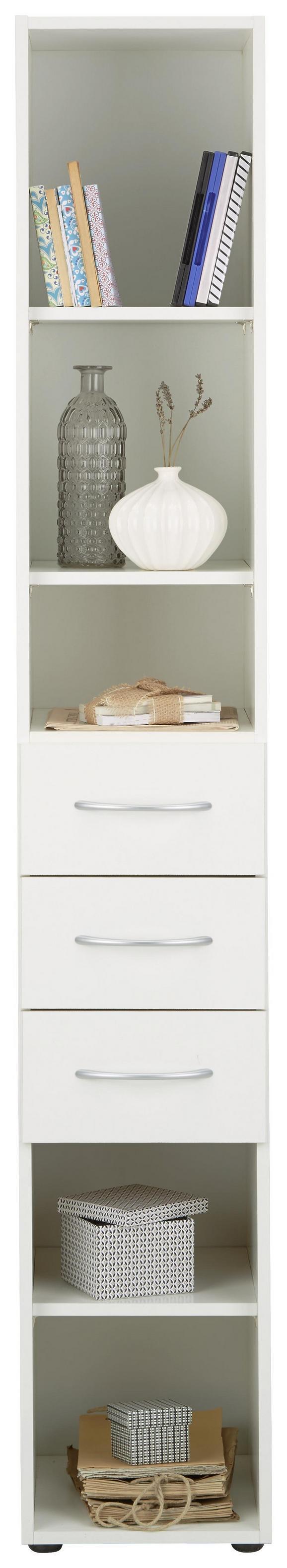 Mehrzweckschrank Mrk - Alufarben/Weiß, Holzwerkstoff/Kunststoff (30/185/40cm) - Mömax modern living