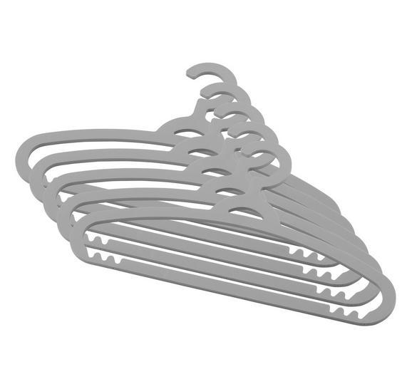 Kleiderbügelset Makie in Grau 5er Set - Grau/Grün, Kunststoff (40/15,8/3,4cm) - Mömax modern living