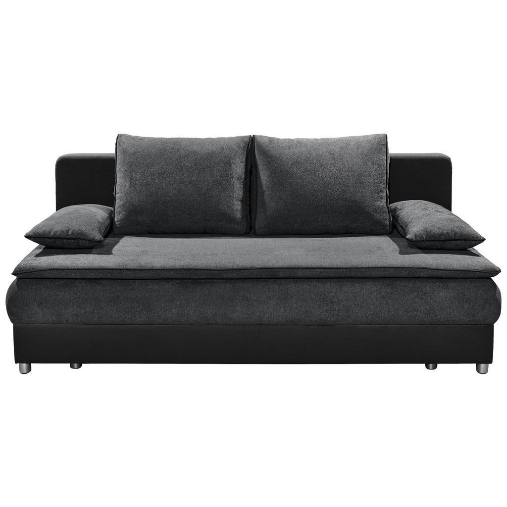 Sofa mit Schlaffunktion in Anthrazit und Schwarz