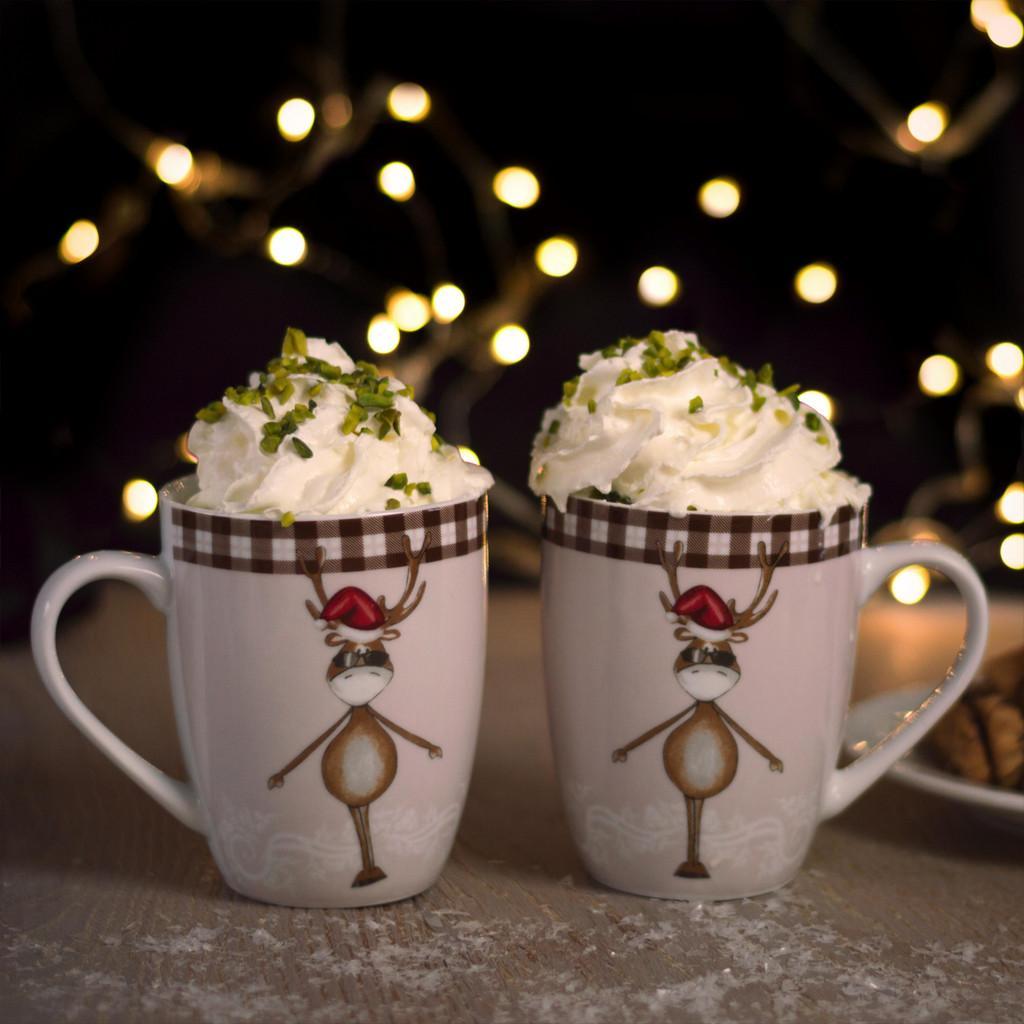 """Kaffeebecherset aus Porzellan 2-teilig """"Maddy"""""""