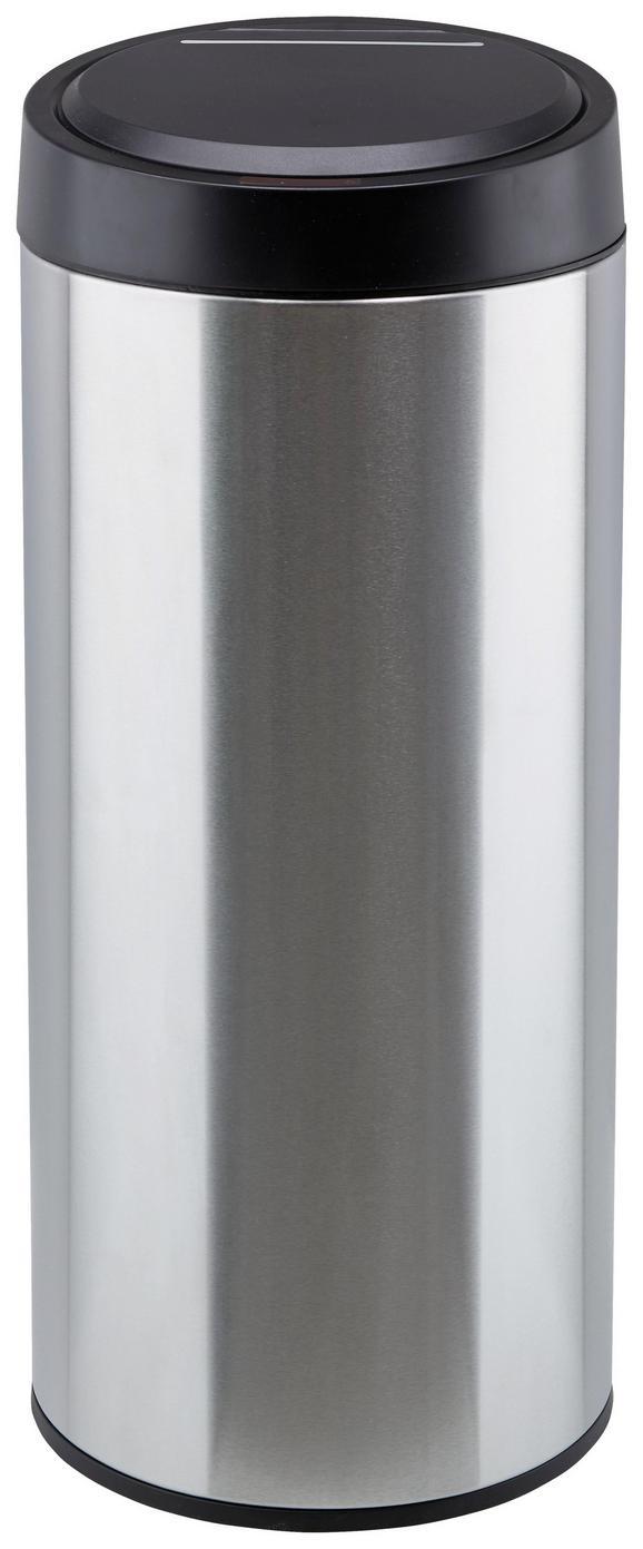 Abfalleimer Paul mit Touch-sensor - Silberfarben/Schwarz, Kunststoff/Metall (29,5/68cm) - Mömax modern living