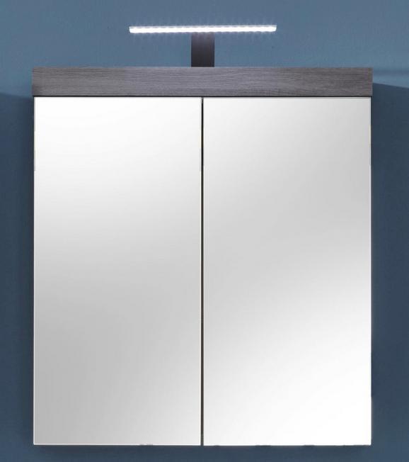 Spiegelschrank Miami/maine - Silberfarben, MODERN, Glas/Holzwerkstoff (72/79/17cm)