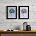 Bild Palm Grau/Schwarz ca.30x40x1,7cm - Schwarz/Grau, MODERN, Kunststoff (30/40/1,7cm) - Bessagi Home