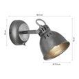 Strahler Ulf max. 40 Watt - Grau, MODERN, Metall (11,5/15cm) - Premium Living