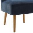Sessel Laura - Blau, MODERN, Holz/Textil (62/83/62cm) - Bessagi Home