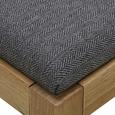 Bank Jarry - Grau, MODERN, Holz/Textil (92/46/39cm) - Bessagi Home