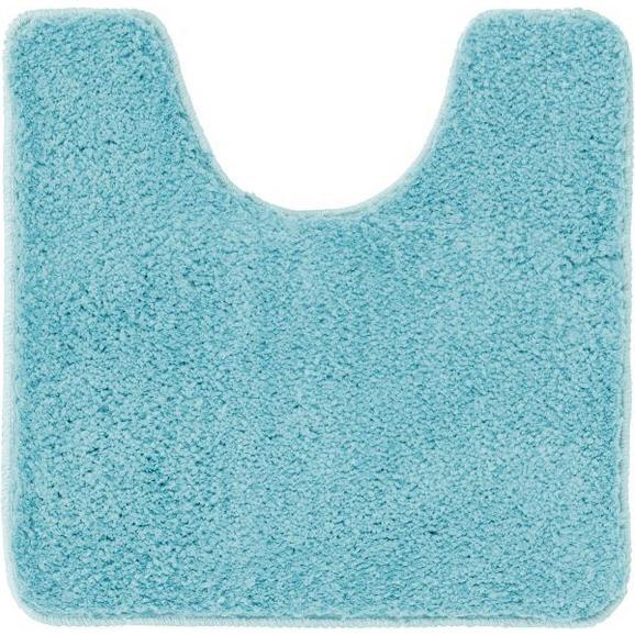 WC-Vorleger Christina Aqua 50x50cm - Hellblau, Textil (50/50cm) - Mömax modern living