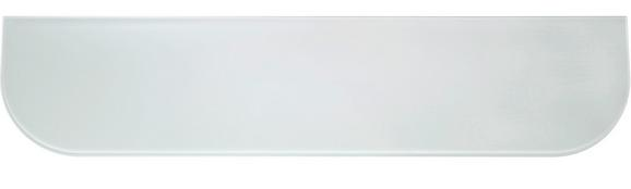 Wandregal Glas Gerundet Weiß - Opal, Glas (15/60/0,6cm) - MÖMAX modern living
