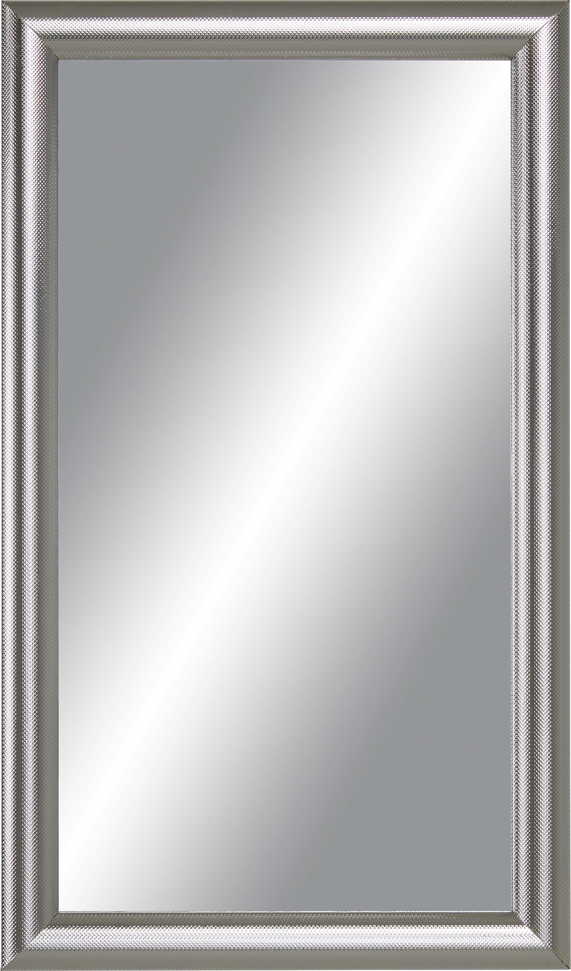 Wandspiegel in Silber, ca. 30x50cm - Silberfarben, MODERN, Glas/Holzwerkstoff (30/50cm) - MÖMAX modern living