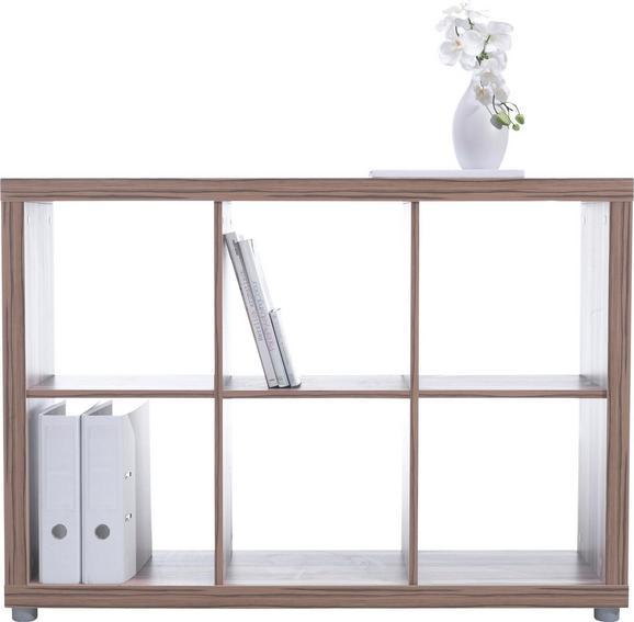 Predelna Stena Aron Hrast - aluminij/hrast, leseni material (117/84/35cm) - Mömax modern living