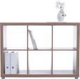 Raumteiler Eichefarben - Eichefarben/Alufarben, Holzwerkstoff (117/84/35cm) - Mömax modern living