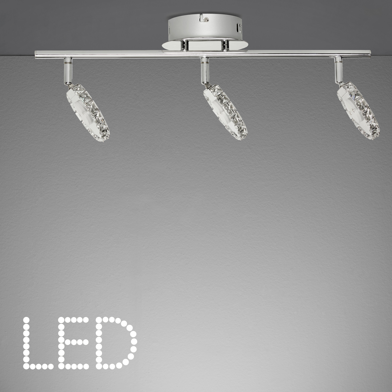 LED-Deckenleuchte Sphere - Chromfarben, MODERN, Glas/Metall (54/15/19cm) - MÖMAX modern living