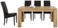 Jedilna Miza Bari - hrast, Konvencionalno, leseni material (160-200/77/90cm) - Modern Living