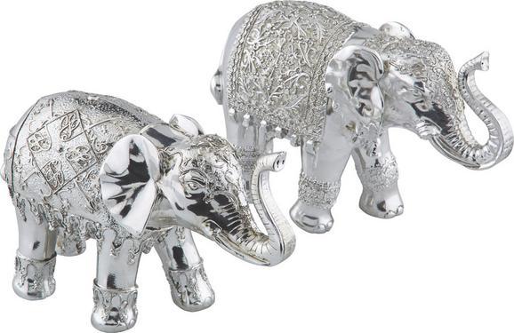 Dekoelefant Ganesha in Silber - Silberfarben, LIFESTYLE, Kunststoff (27/10/18cm)