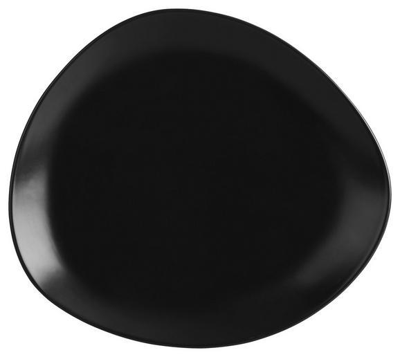 Dessertteller Nele aus Steinzeug in Schwarz - Schwarz, MODERN, Keramik (21 19 2,3cm) - Premium Living