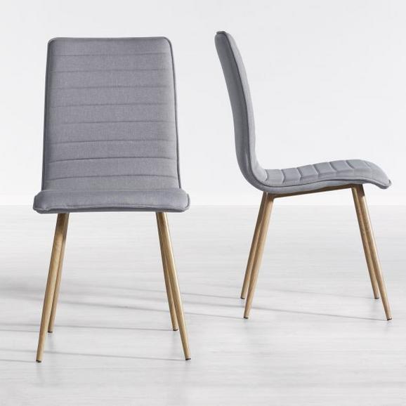 Stuhl Milena - Hellgrau, MODERN, Kunststoff/Textil (45/91/56,5cm) - Mömax modern living