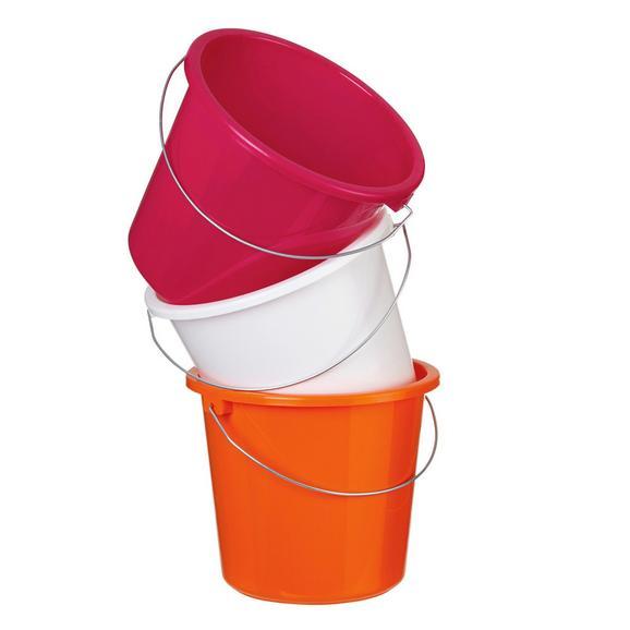 Găleată Rosi -based- - Roz aprins/Alb, Plastic/Metal (23,2/20cm) - Based