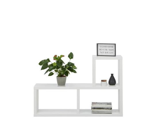 Raumteiler in Weiß mit 3 Fächer - Weiß, MODERN, Holzwerkstoff (125/83/35cm) - MÖMAX modern living