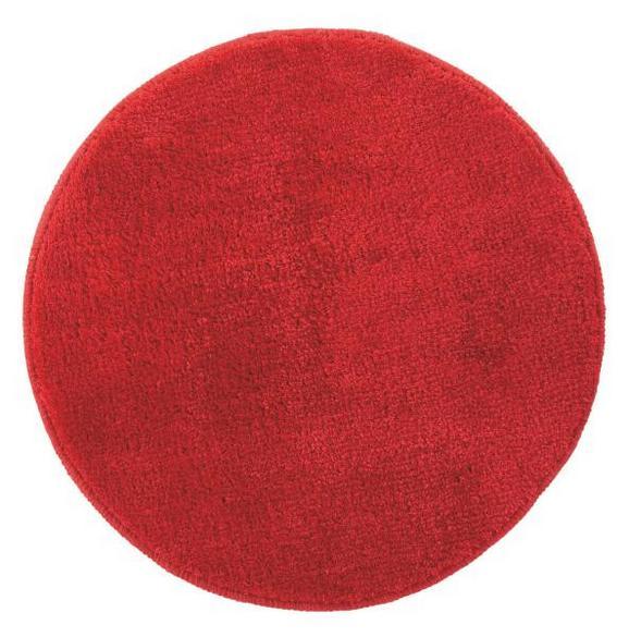 Badematte Rund ca. 50cm - Anthrazit/Rot, Textil (50cm) - MÖMAX modern living
