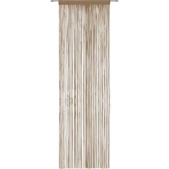 Nitasta Zavesa Victoria - rjava, tekstil (90/245cm) - Mömax modern living