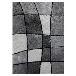 Hochflorteppich Fancy Grua/Weiß 120x170cm - Schwarz/Weiß, KONVENTIONELL, Textil (120/170cm) - Mömax modern living