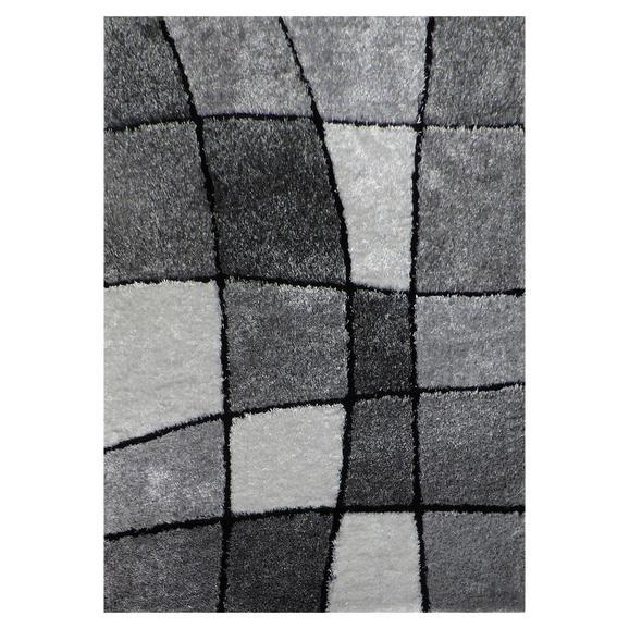 Hochflorteppich Fancy in Grau ca.120x170cm - Schwarz/Weiß, KONVENTIONELL, Textil (120/170cm) - Mömax modern living