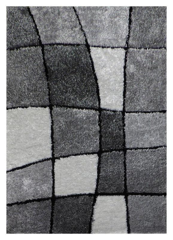 Kosmatinec Fancy 3 - črna/siva, Konvencionalno, tekstil (120/170cm) - Mömax modern living