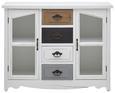 Sideboard Florina - Braun/Weiß, MODERN, Glas/Holz (105/80/34cm) - Modern Living
