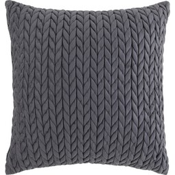 Zierkissen Heidi ca. 45x45cm - Grau, ROMANTIK / LANDHAUS, Textil (45/45cm) - Mömax modern living