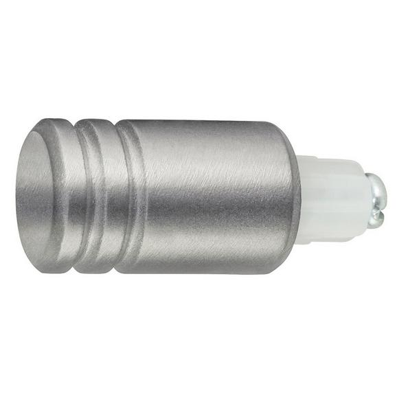 Endstück Combi Zylinder 0aus Metall - Edelstahlfarben, MODERN, Metall (1/1/1cm) - Mömax modern living