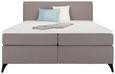 Boxspringbett Grau ca.160x200cm - Beige/Schwarz, Holz/Holzwerkstoff (160/200cm) - Modern Living