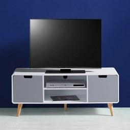 TV-Element Daniela - Weiß/Grau, MODERN, Holz (120/48/40cm) - Modern Living
