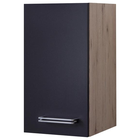 Corp Suspendat De Bucătărie Milano - culoare inox/culoare lemn stejar, Modern, compozit lemnos/metal (30/54/32cm)